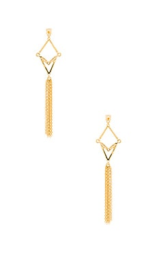 Ettika Drop Chain Earring in Gold