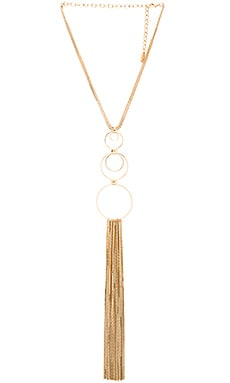 Ettika Circle Fringe Retro Necklace in Gold