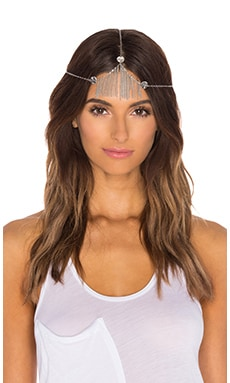 Ettika Fringe Headpiece in Silver