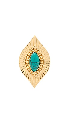 Ettika Ring in Turquoise & Gold