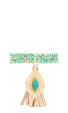 Ettika Bracelet Set in Turquoise & Gold
