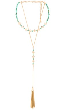 Tassel Layered Necklace in Turquoise