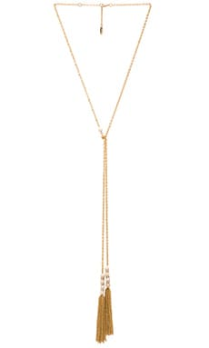 Ettika Tassel Drop Necklace in Cream