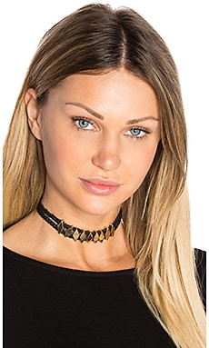 Double Braided Choker en Negro