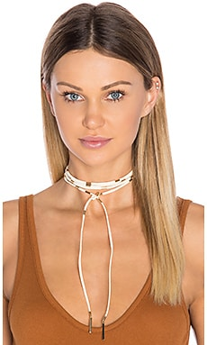 Ettika Wrap Necklace in Gold & Sand