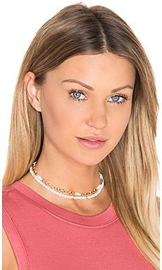 Ettika Beaded Choker Set in Opal & Gold