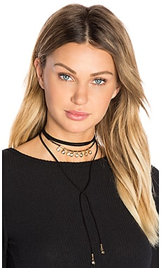 Wrap Choker in Black & Gold