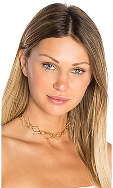 Modern Life Choker in Gold