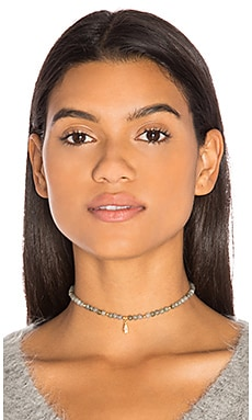 Ettika Beaded Choker in Grey & Gold