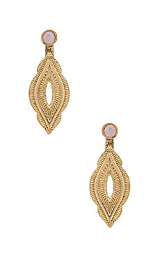 Ettika Drop Down Earrings in Gold