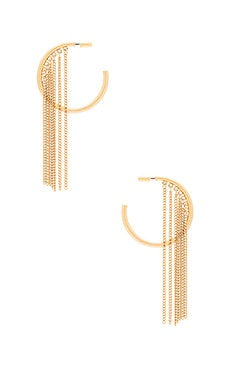 Hoop Chain Earrings in Gold
