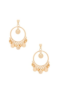 Coin Earring in Gold