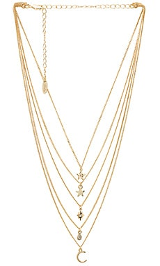 Layered Charm Necklace Ettika $37