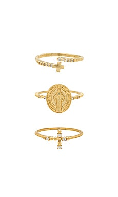 Faithful Ring Set Ettika $33