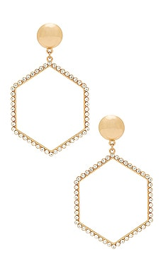 Hexagon Drop Earrings Ettika $40