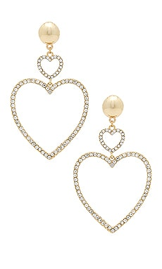 Two Hearts Drop Earrings Ettika $50