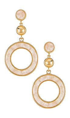 Drop Hoop Earrings Ettika $40