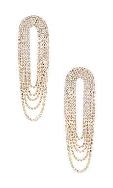 Draped Rhinestone Earring Ettika $60