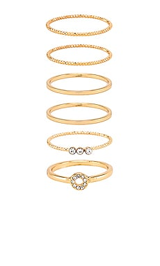 Ring Set of 6 Ettika $55