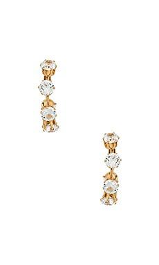 CZ Hoop Earrings Ettika $35
