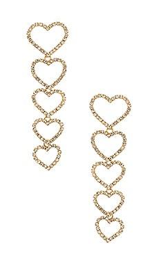 Drop Heart Earrings Ettika $55