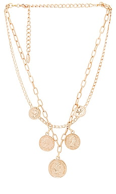 Layered Coin Necklace Ettika $60