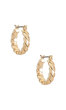 Twist Hoop Earrings Ettika $30
