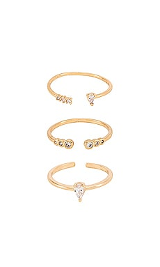 Crystal Stacking Rings Ettika $50