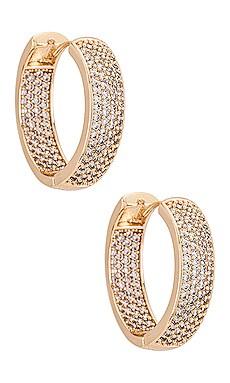 Crystal Hoop Earrings Ettika $65