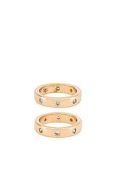 Thick Stacking Ring Set Ettika $50 BEST SELLER