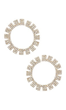 Circle Crystal Earrings Ettika $50