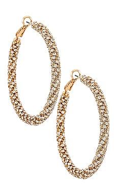 Crystal Hoop Earrings Ettika $60 BEST SELLER