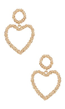 Heart Drop Earrings Ettika $50