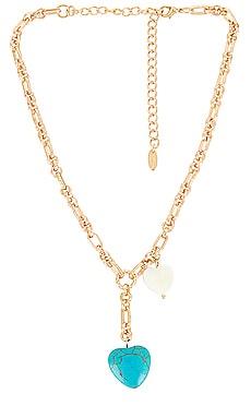 Turquoise Heart Lariat Necklace Ettika $50