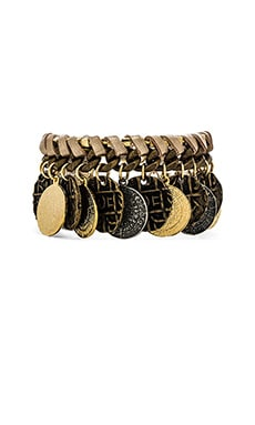 Ettika Coin Layered Bracelet in Brass