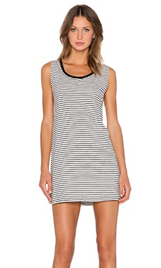 Evil Twin Kyoto Tank Dress in Black & White