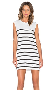 Evil Twin Origins Tank Dress in White & Black