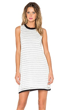 Evil Twin Passcode Tank Dress in Black & White