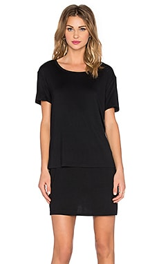 Whiskey River T-Shirt Dress in Black