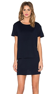 Evil Twin Whiskey River T-Shirt Dress in Navy