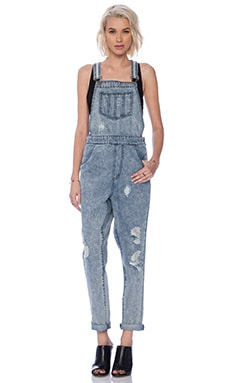 Evil Twin Easy Street Overalls in Blue Acid
