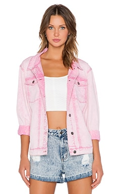 Evil Twin West Coast Denim Jacket in Pink