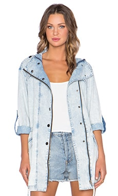 Evil Twin Brooklyn Lights Anorak in Denim
