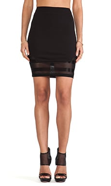 Clean Slate Layered Tube Skirt in Black