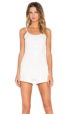 Evil Twin Fighting Fit Romper in White