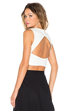 Fighting Fit Crop Tank in White