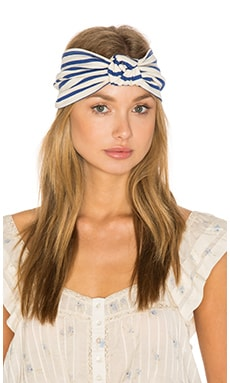 Chiara Headband in Cream & Blue
