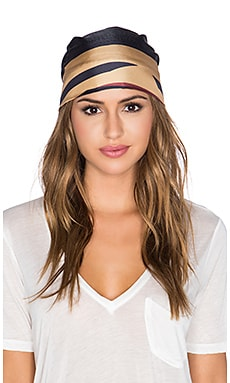 Eugenia Kim Gigi Head Scarf in Sienna & Navy & Multi