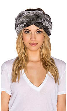 Eugenia Kim Rabbit Fur Kristi Headwrap in Grey