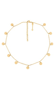 Sabina Mini Sparkle Disc Necklace Ellie Vail $58
